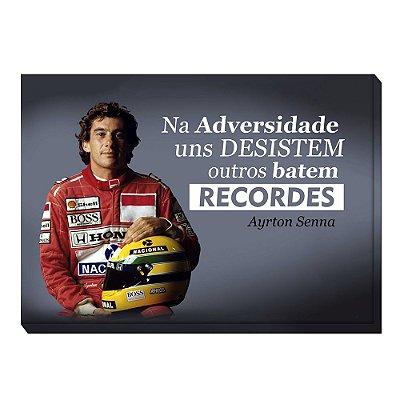 Quadro Tela 60x42cm Motivacional Senna - Beek