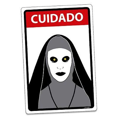 Placa Decorativa 24x16 - CUIDADO FREIRA