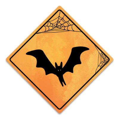 Placa Decorativa 30x30 HALLOWEEN Morcego - Beek