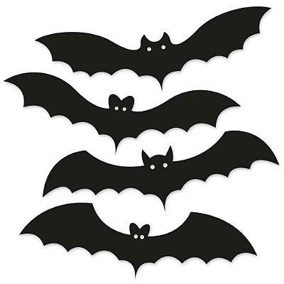 Kit Placas Decorativas 28x9 HALLOWEEN Morcegos - Beek