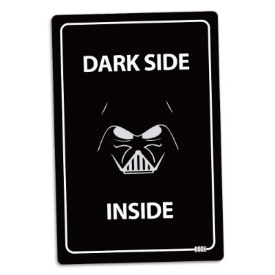 Placa Decorativa 24x16 - DARK SIDE INSIDE