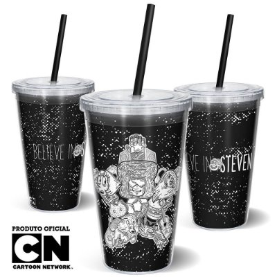 Copo Canudo 600ml Cartoon Network OFF Believe in Steven