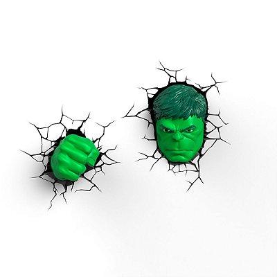 Luminaria 3d Light Fx Rosto Do Hulk B2beek Distribuidora De