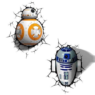 Conjunto Luminárias 3D Light FX Robôs Star Wars