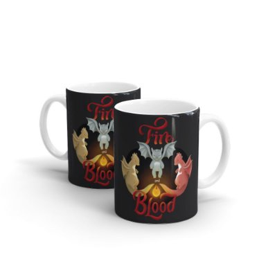 Caneca Personalizada Cerâmica Fire and Blood By Fe Sponchi - Beek