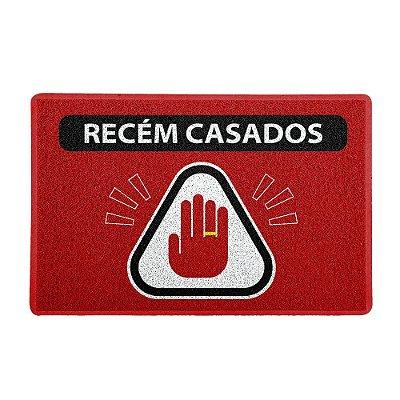 Capacho 60x40cm - ATENÇÃO RECÉM CASADOS