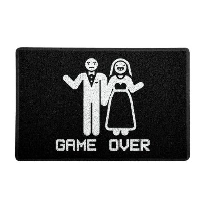 Capacho 60x40cm - GAME OVER CASAMENTO