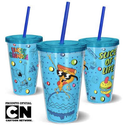Copo Canudo 600ml Cartoon Network Titio Avô - Beek