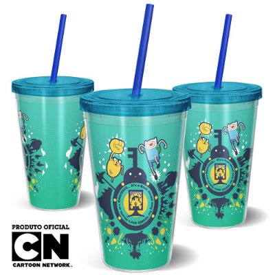 Copo Canudo 600ml CARTOON NETWORK - Hora da Aventura