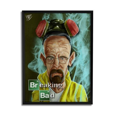 Quadro Decorativo Breaking Bad By Keyzo Araujo - Beek