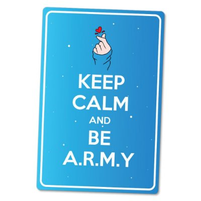 Placa Decorativa 24x16 K-POP ARMY - Beek