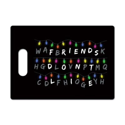 Tábua de Carne de Vidro 35x25cm FRIENDS DON'T LIE - Beek