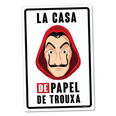Placa Decorativa 24x16 PAPEL DE TROUXA - Beek