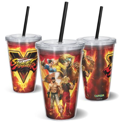 Copo Canudo 600ml STREET FIGHTER - Personagens
