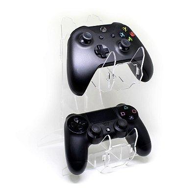 Suporte De Acrilico Para Dois Controles Xbox E Ps4