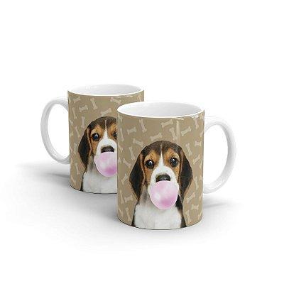 Caneca Cerâmica Beagle Chiclete - Beek