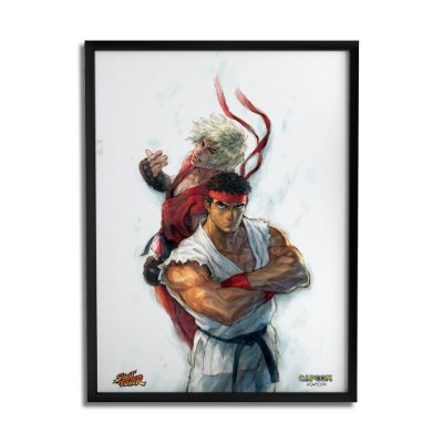 Quadro Decorativo Street Fighter Ryu e Ken - Beek