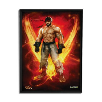 Quadro Decorativo Street Fighter Ryu on Fire - Beek