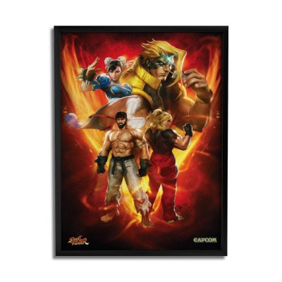 Quadro Decorativo Street Fighter Personagens - Beek