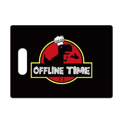 Tábua de Carne de Vidro 35x25cm Offline Time - Beek