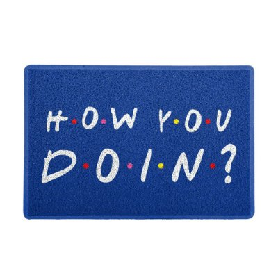 Capacho 60x40cm - HOW YOU DOIN Azul