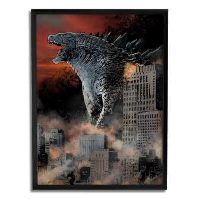 Quadro Decorativo Godzilla By Baal's - Beek
