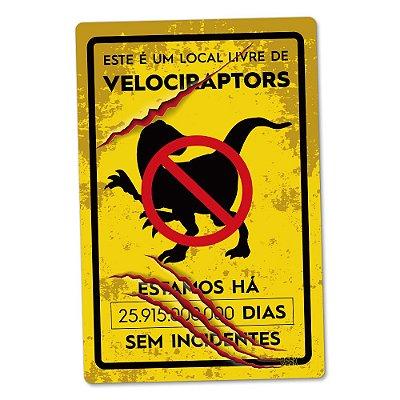 Placa Decorativa 24x16 - ATAQUE DE DINOSSAUROS