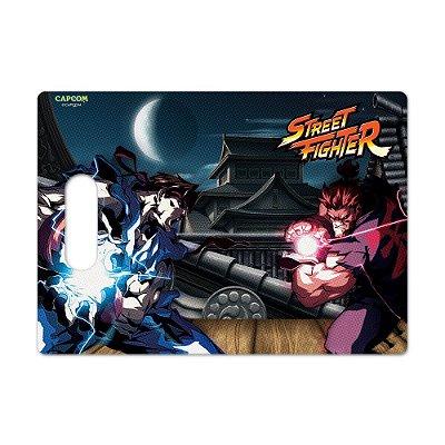 Tábua de Carne de Vidro 35x25 Street Fighter - RYU vs AKUMA