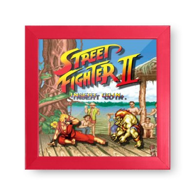 Quadro Cofre 3D STREET FIGHTER Ken VS Blanka - Beek