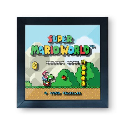 Quadro Cofre 3D Super Mario World