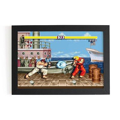 Quadro 3D 30x20 STREET FIGHTER - Hadouken