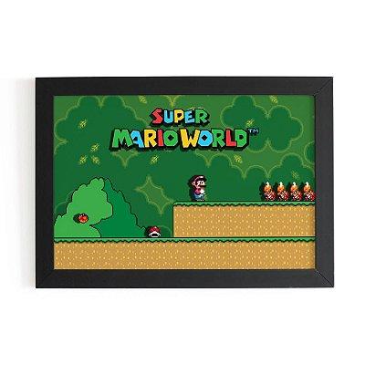 Quadro 3D Super Mario Fase 1 - Beek