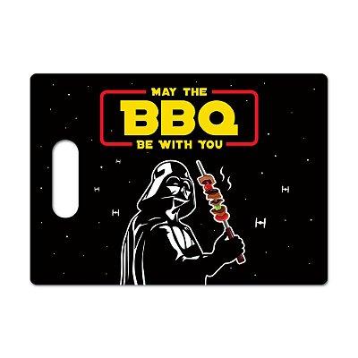 Tábua de Carne de Vidro 35x25 - MAY THE BBQ