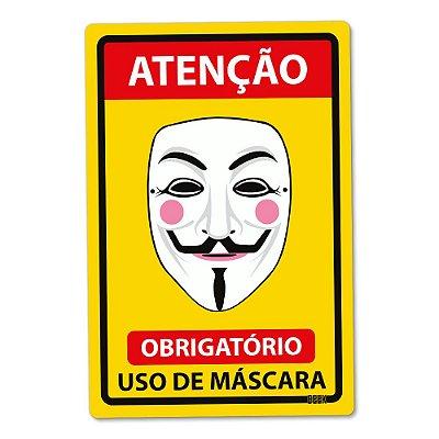 Placa Decorativa 24x16 Use Máscara - V