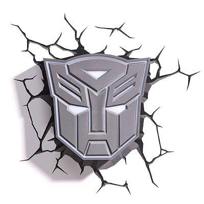 Luminária 3D Light FX Transformers Escudo Autobots