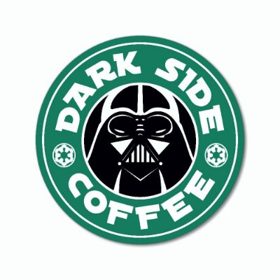 Placa Decorativa 20x20 - DARK SIDE COFFEE