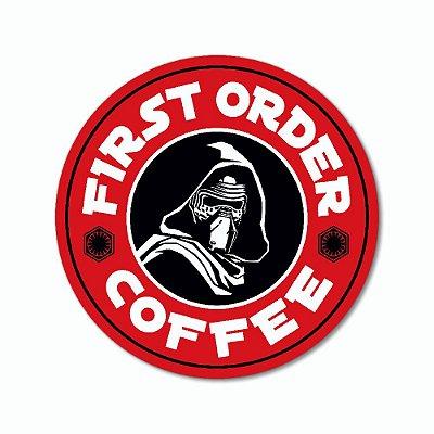 Placa Decorativa 20x20 - FIRST ORDER COFFEE