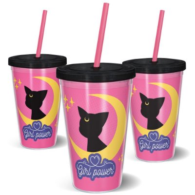 Copo Canudo 600ml - GIRL POWER CAT