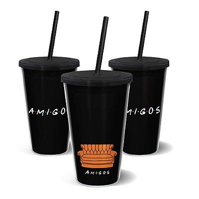 Copo Canudo 500ml - AMIGOS