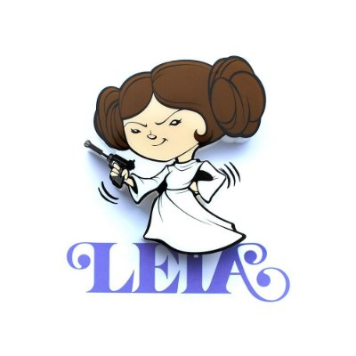 Mini Luminária 3D Light FX Star Wars Leia