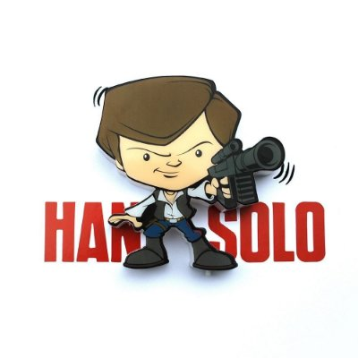 Mini Luminária 3D Light FX Star Wars Han Solo
