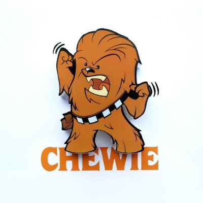 Mini Luminária 3D Light FX Star Wars Chewie