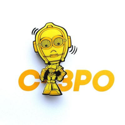 Mini Luminária 3D Light FX Star Wars C-3PO