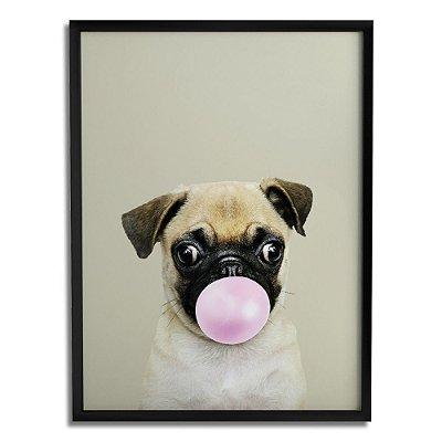 Quadro Decorativo Pug Chiclete