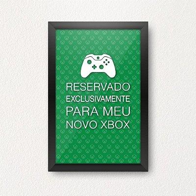 Quadro Porta Dinheiro - NOVO XBOX VERDE