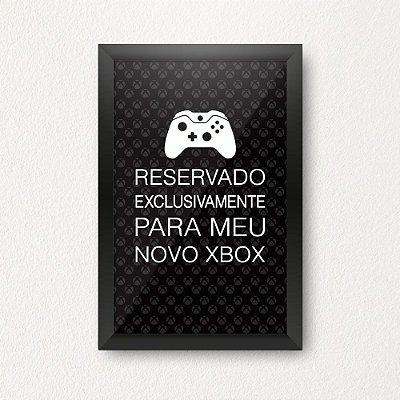 Quadro Porta Dinheiro - NOVO XBOX PRETO
