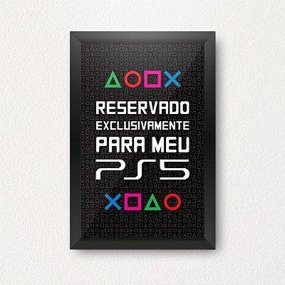 Quadro Porta Dinheiro - PS5 PRETO