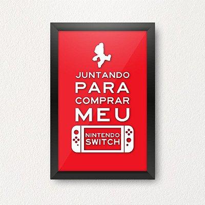 Quadro Porta Dinheiro - Juntando para comprar meu Nintendo Switch