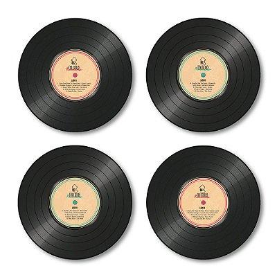 Porta Copos de acrílico - Disco de Vinil
