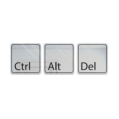 Espelho Decorativo feito em Acrílico Espelhado (70x23cm) - Ctrl + Alt + Del